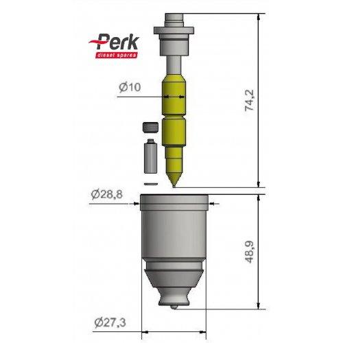 Cummins ISX-QSX Injector Spray Tip SC1846351 euro diesel