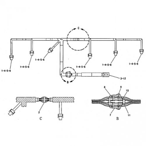 Harness Assembly for CAT C7 222-5917 euro diesel