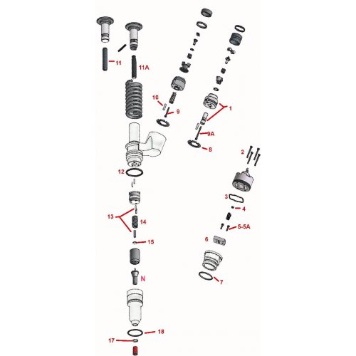 Repair Kit Injector CAT  3406E - C15  189-5390  2481394 euro diesel