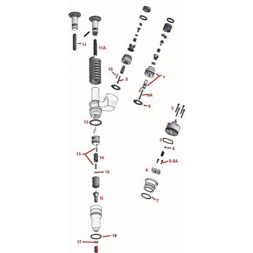 Repair Kit Injector CAT 3406E  C15   euro diesel