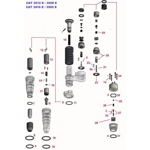 Screw Kit Solenoid Injector CAT 3500 - 3516E   euro diesel