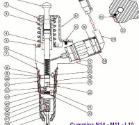 Inj. Plunger Link Assy Cummins N14  A1-23891