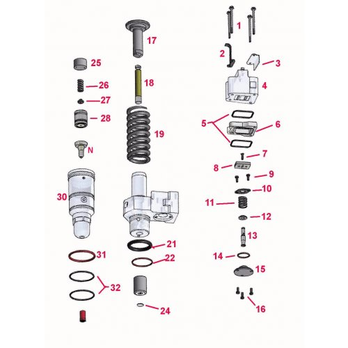 Valve Spring Cage Injector Detroit Diesel 50/60    euro diesel